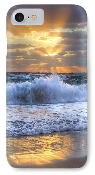 Splash Sunrise IPhone Case by Debra and Dave Vanderlaan