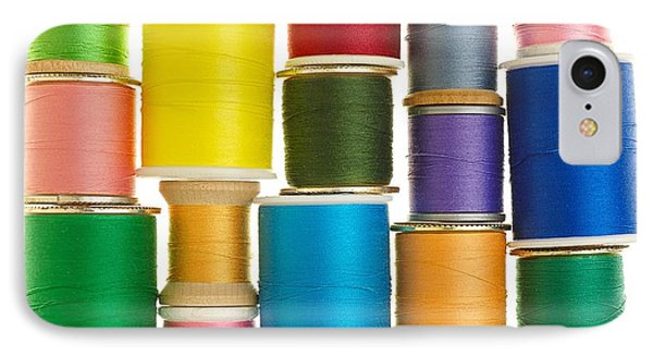 Spools Of Thread IPhone Case by Jim Hughes