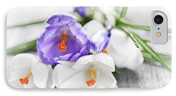 Spring Crocus Flowers IPhone Case