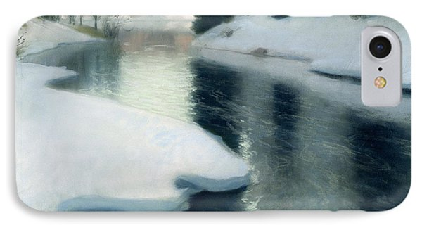 Spring Thaw IPhone Case by Fritz Thaulow