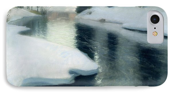 Ice iPhone 7 Case - Spring Thaw by Fritz Thaulow