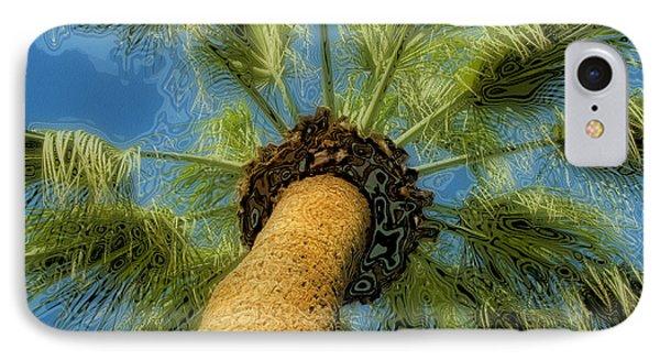 Square Polaroid Palm Tree IPhone Case