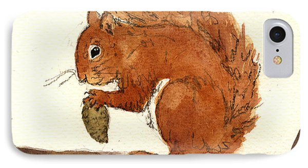 Squirrel IPhone Case by Juan  Bosco