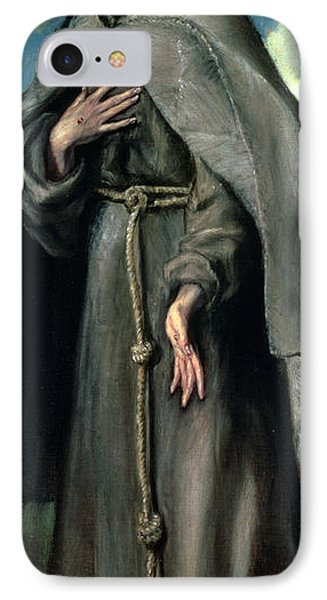 St Francis Of Assisi IPhone Case by El Greco Domenico Theotocopuli