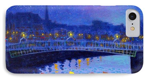 Starry Night In Dublin Phone Case by John  Nolan