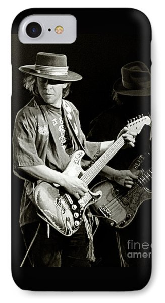 University Of Illinois iPhone 7 Case - Stevie Ray Vaughan 1984 by Chuck Spang