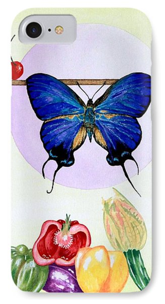 Still Life With Moth #2 IPhone Case by Thomas Gronowski