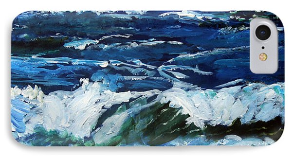 IPhone Case featuring the painting Storm Tide Or Blowin In The Wind by Michael Helfen