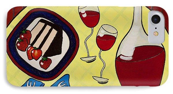 Strawberry Wine Phone Case by Barbara McMahon