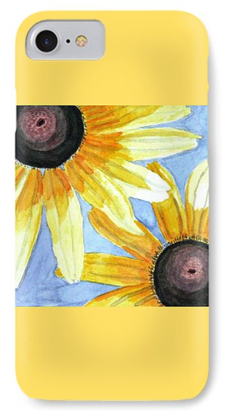 IPhone Case featuring the painting Summer Susans by Angela Davies