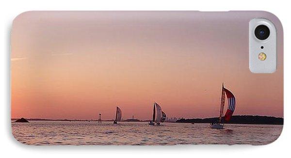 Sun Setting Over Boston Series IPhone Case by Laura Lee Zanghetti