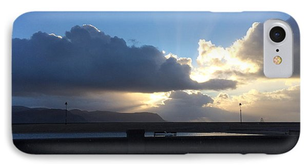 Sunbeams Over Conwy Phone Case by Christopher Rowlands