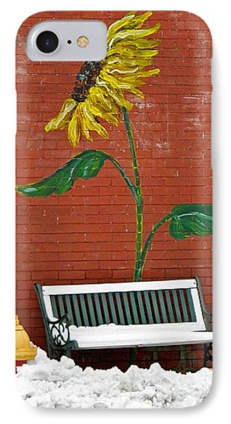Sunflower And Snow Phone Case by Chris Berry