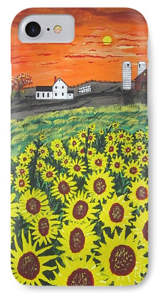 Sunflower Valley Farm IPhone Case by Jeffrey Koss