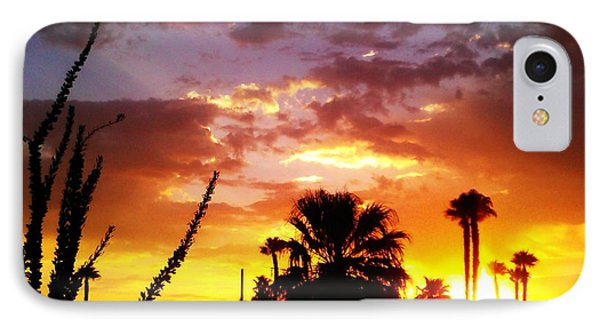 Sunrise In Palm Springs IPhone Case by Chris Tarpening