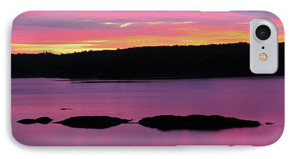 Sunrise On The New Meadows River IPhone Case by Michel Hersen