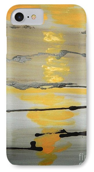 IPhone Case featuring the painting Sunset by Fereshteh Stoecklein