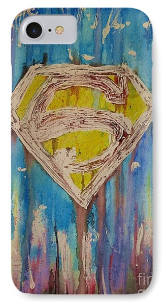 Superman's Shield IPhone Case by Justin Moore