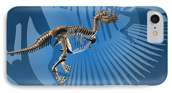 T. Rex Dinosaur Skeleton Phone Case by Carol and Mike Werner