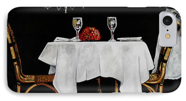 Table For Two IPhone Case by Vickie Warner