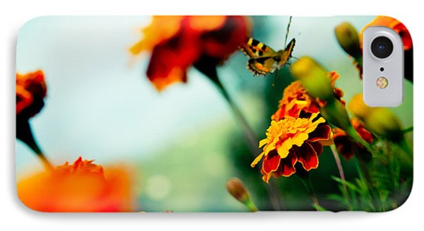Tagetes And Buterfly Fly Away  IPhone Case