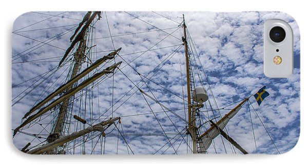 IPhone Case featuring the photograph Tall Ship Mast by Dale Powell