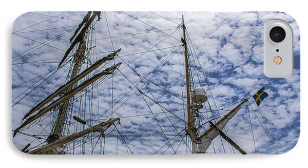 Tall Ship Mast IPhone Case by Dale Powell