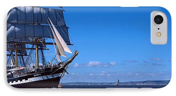Tall Ships Race In The Ocean, Baie De IPhone Case by Panoramic Images
