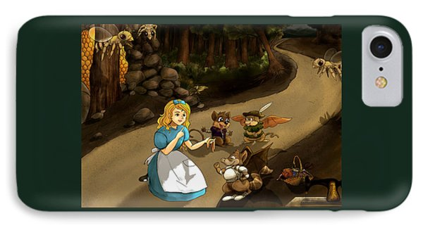 IPhone Case featuring the painting Tammy Meets Cedric The Mongoose by Reynold Jay