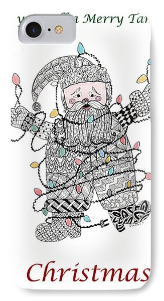 Tangled Santa IPhone Case