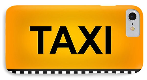 Taxi Sign IPhone Case by Henrik Lehnerer