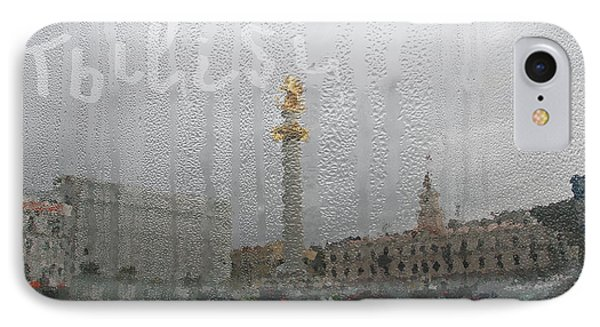 Tbilisi Through The Window In Rainy Autumn IPhone Case by Lali Kacharava