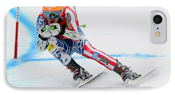 Ted Ligety Skiing  IPhone Case by Lanjee Chee
