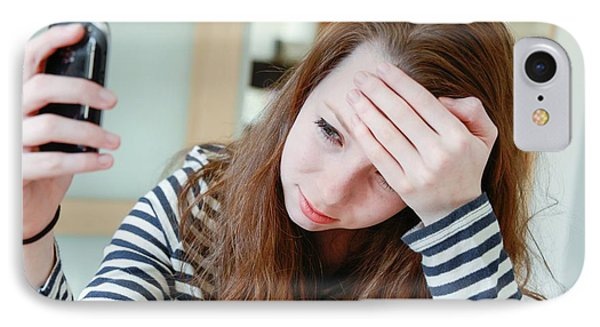 Teenage Cyberbullying IPhone Case by Aj Photo