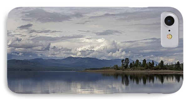 IPhone Case featuring the photograph Teslin Lake  by Inge Riis McDonald