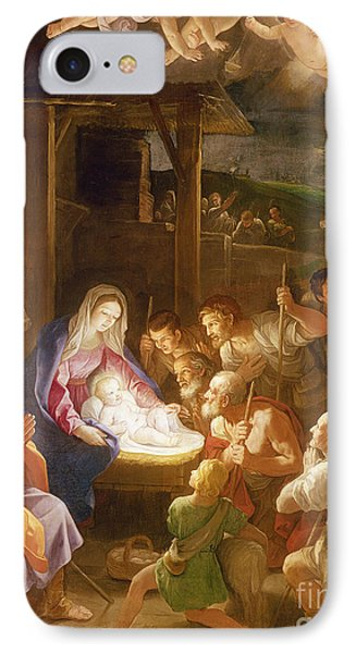 The Adoration Of The Shepherds Phone Case by Guido Reni