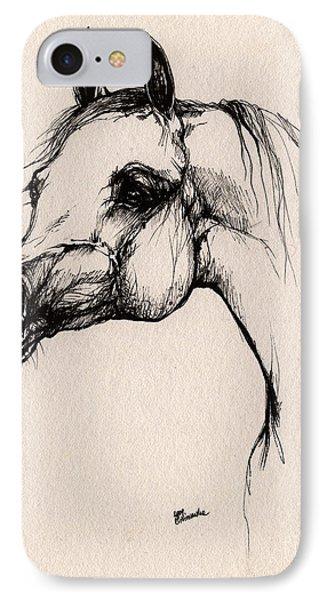 The Arabian Horse Phone Case by Angel  Tarantella