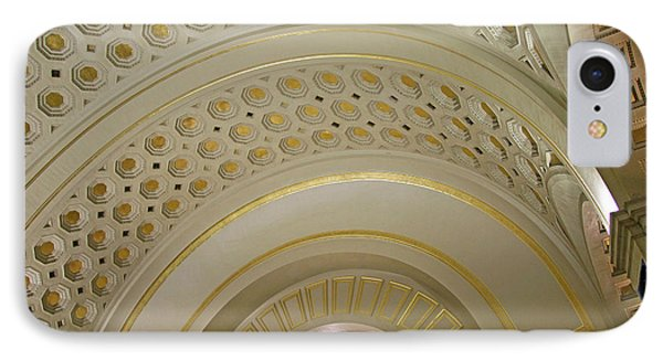 The Ceiling Of Union Station IPhone Case by Cora Wandel