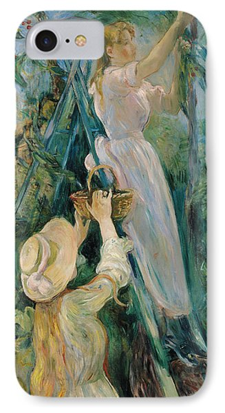 The Cherry Picker  IPhone Case by Berthe Morisot