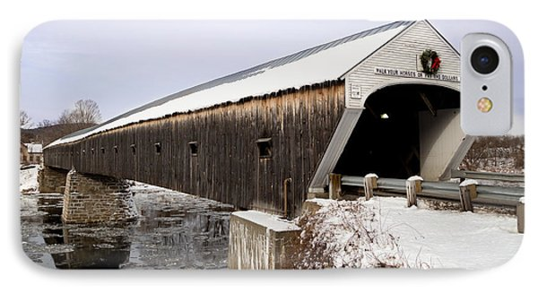 The Covered Bridge IPhone Case by Courtney Webster