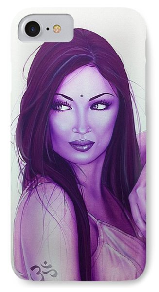 Portrait - ' The First Breath Of Creation ' IPhone Case by Christian Chapman Art