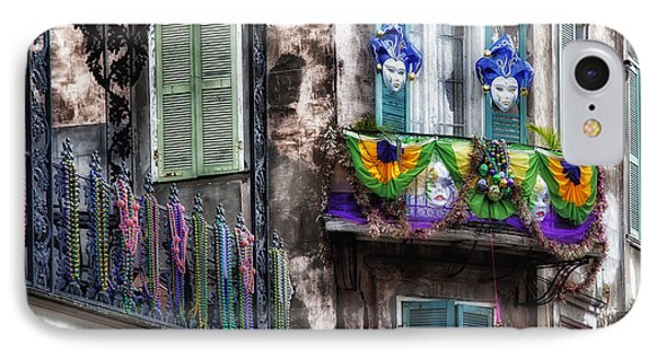 The French Quarter During Mardi Gras IPhone Case by Mountain Dreams