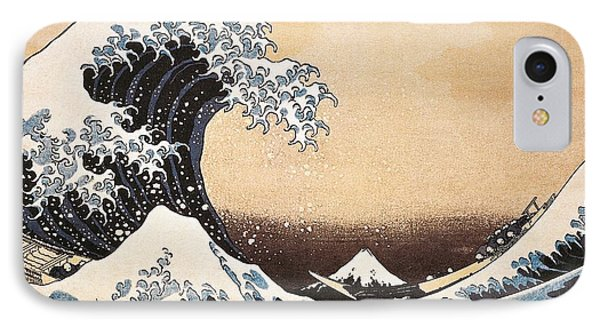 The Great Wave Of Kanagawa Phone Case by Hokusai