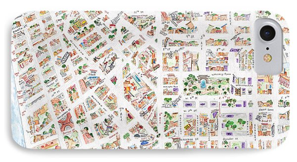 The Greenwich Village Map IPhone Case by AFineLyne