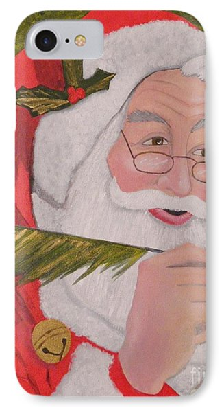 The Jolly Elf Saint Nick Checking It Twice IPhone Case