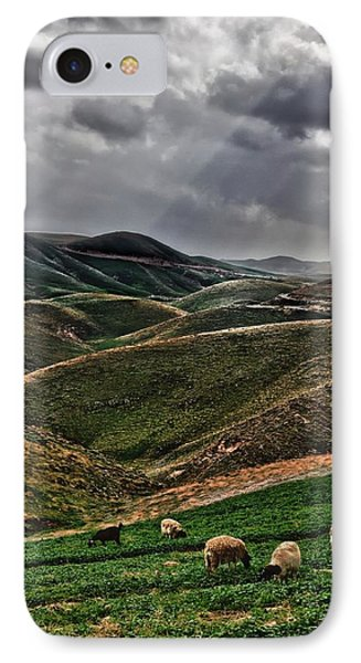 The Lord Is My Shepherd Judean Hills Israel IPhone Case by Mark Fuller