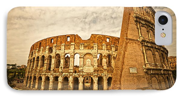 The Majestic Coliseum - Rome Phone Case by Luciano Mortula