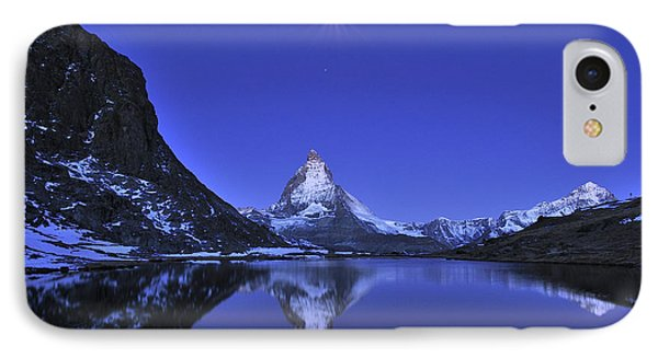The Matterhorn And Riffelsee Lake IPhone Case by Thomas Marent