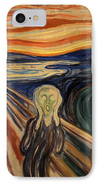 The Scream IPhone Case by Celestial Images