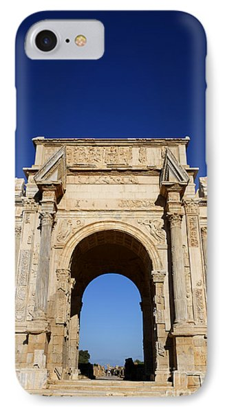 The Septimus Severus Arch At Leptis Magna In Libya IPhone Case by Robert Preston